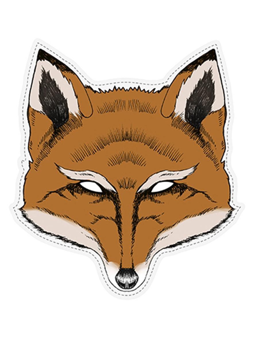 Masque papier cartonn renard d coration anniversaire et f tes th me sur vegaoo party - Masque de renard a imprimer ...