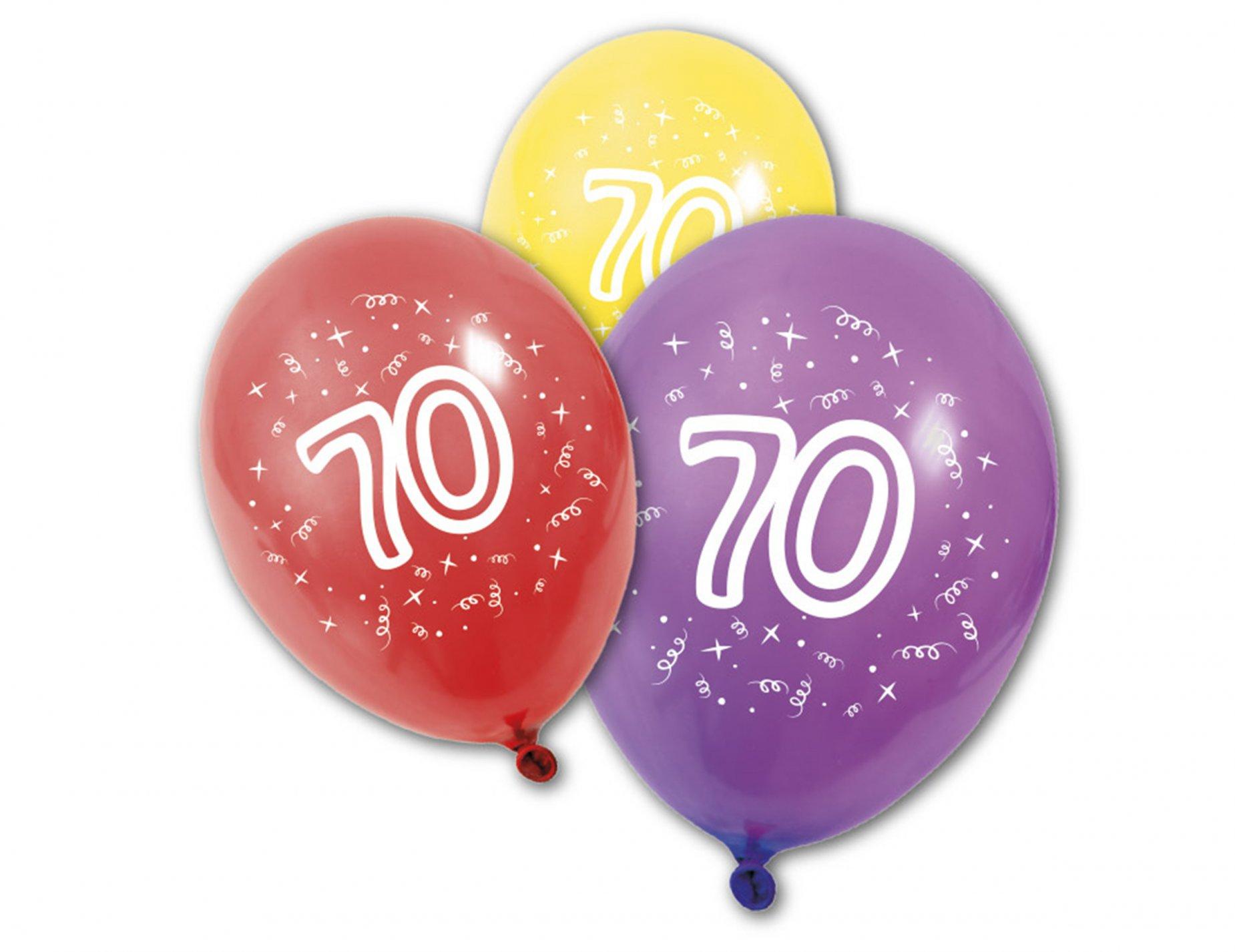 8 ballons en latex anniversaire 70 ans d coration for Deco annee 70 pour anniversaire