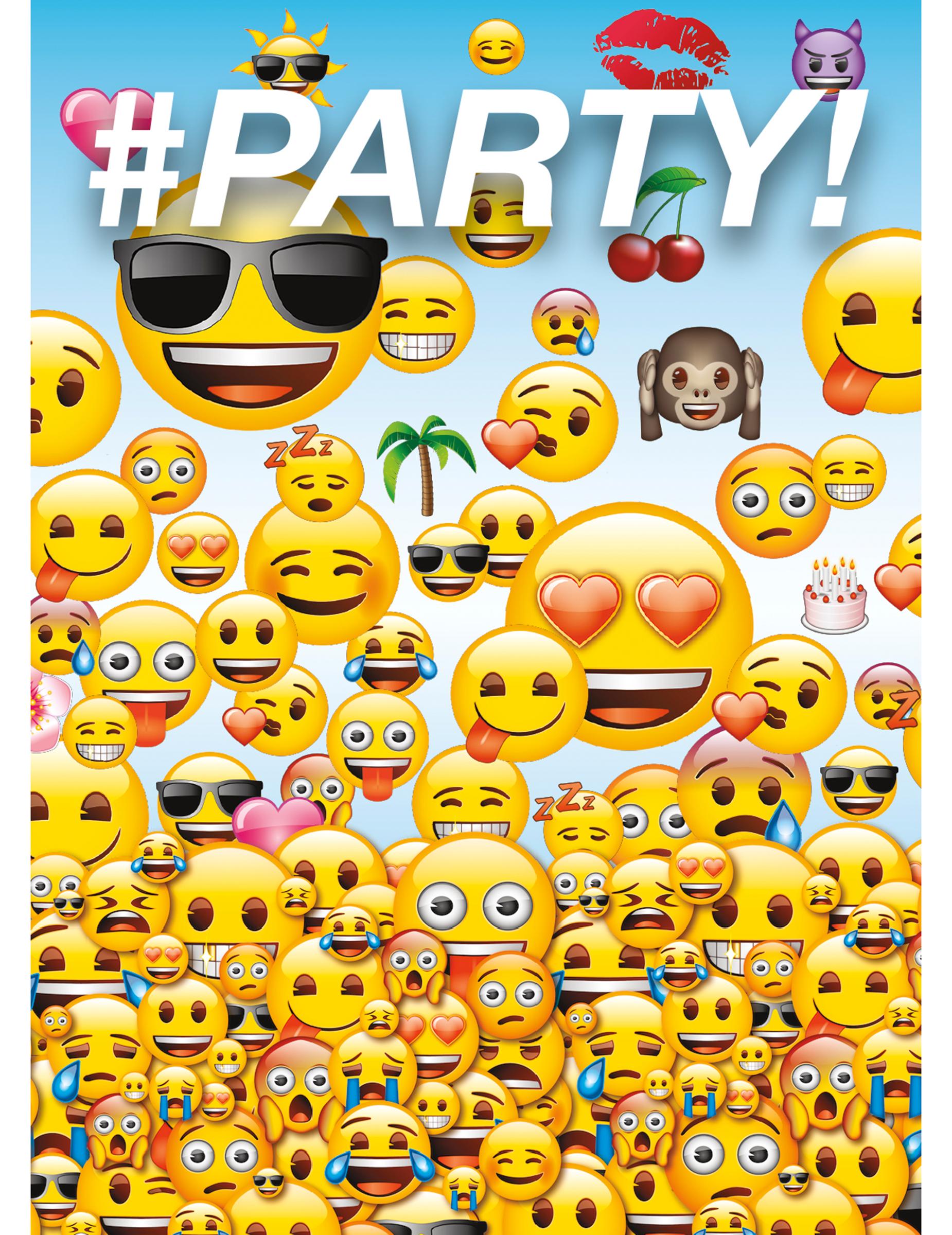 8 cartes d 39 invitation emoji d coration anniversaire et f tes th me sur vegaoo party. Black Bedroom Furniture Sets. Home Design Ideas