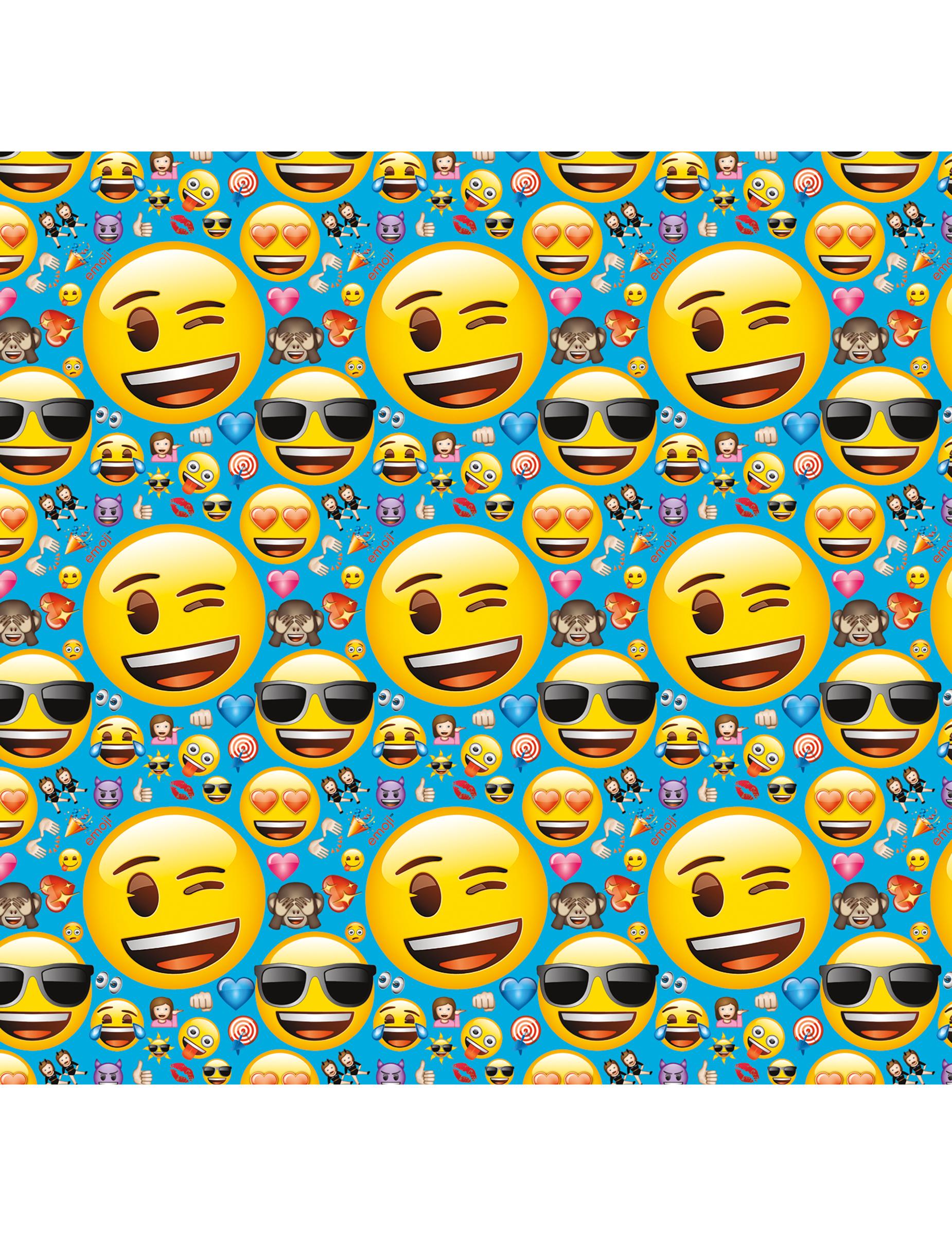 Papier cadeau emoji d coration anniversaire et f tes - Papier cadeau personnalisable ...