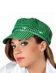Casquette verte disco