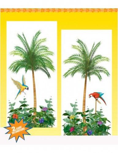 D cors muraux palmiers d coration anniversaire et f tes for Decors muraux exterieurs
