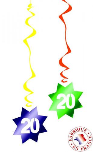 6 d corations suspendre spirale 20 ans d coration for Decoration 20 ans