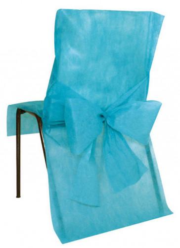 10 housses de chaise turquoise d coration anniversaire et - Housse de chaise sur mesure ...