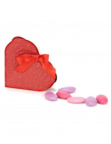boite pandora coeur rouge