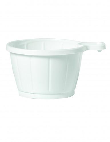 50 tasses caf en plastique blanc 20 cl d coration anniversaire et f tes th me sur vegaoo party. Black Bedroom Furniture Sets. Home Design Ideas