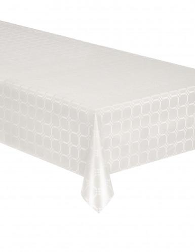 nappe en rouleau papier damass blanche d coration anniversaire et f tes th me sur vegaoo party. Black Bedroom Furniture Sets. Home Design Ideas
