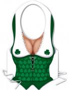 Tablier plastique femme irlandaise Saint-Patrick