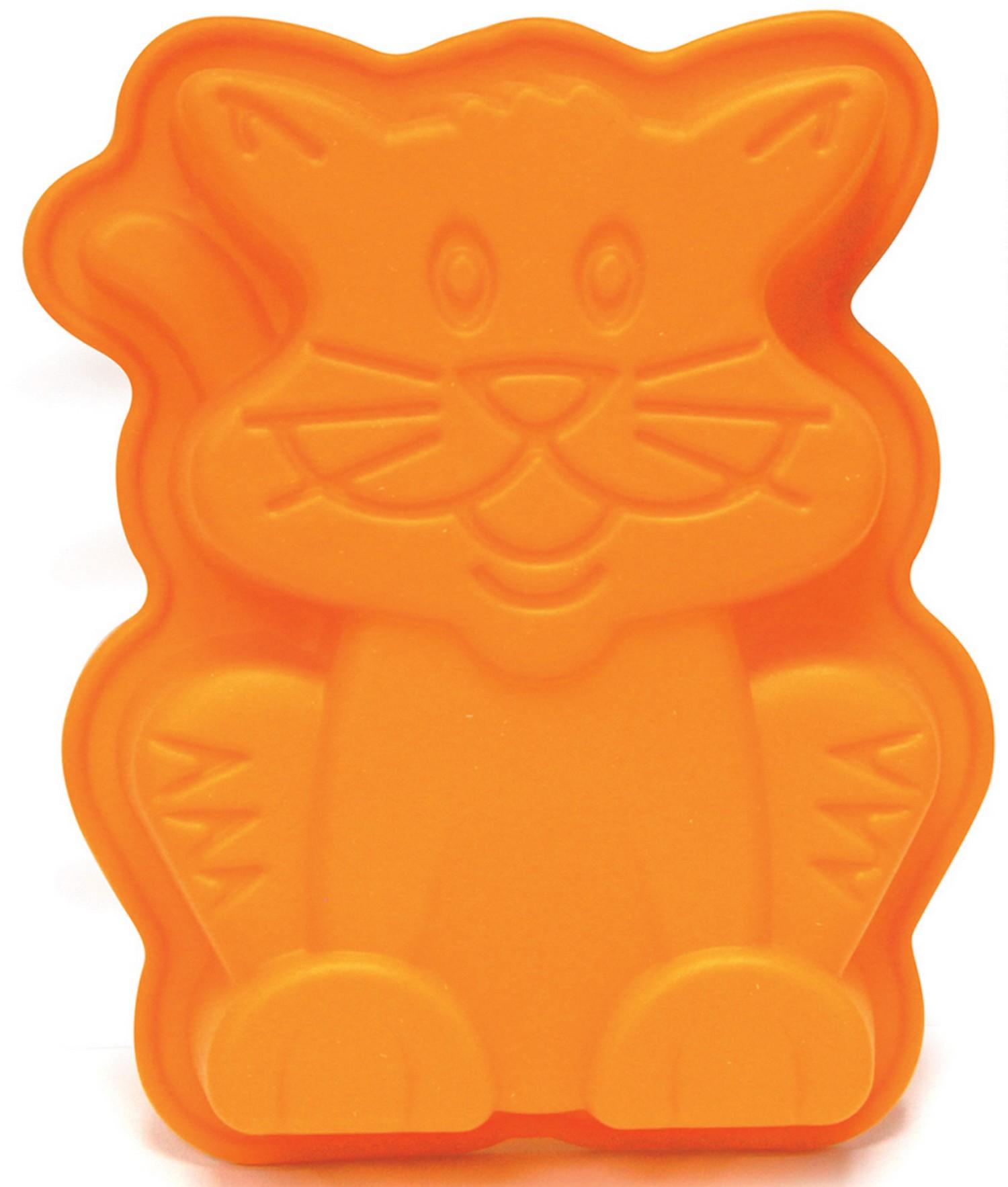 moule g teaux orange forme chat. Black Bedroom Furniture Sets. Home Design Ideas