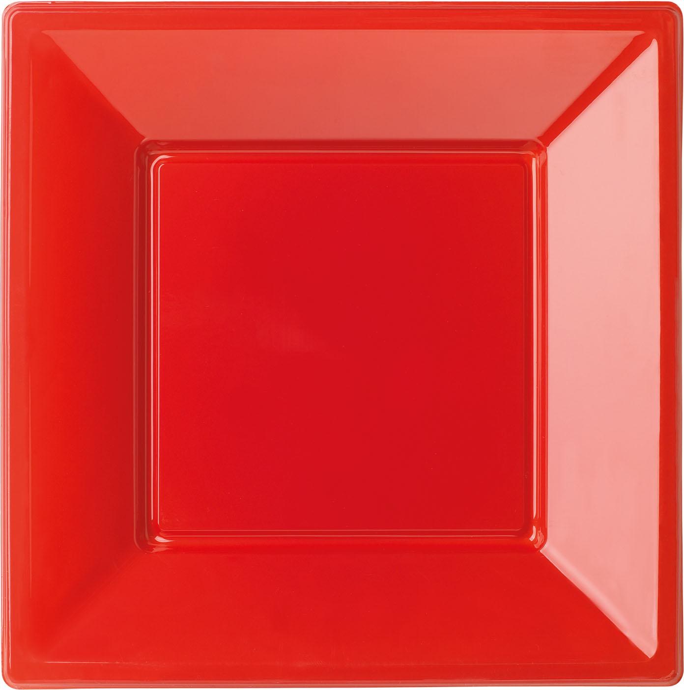 8 assiettes rouges car es en plastique 18 cm modus vivendi. Black Bedroom Furniture Sets. Home Design Ideas