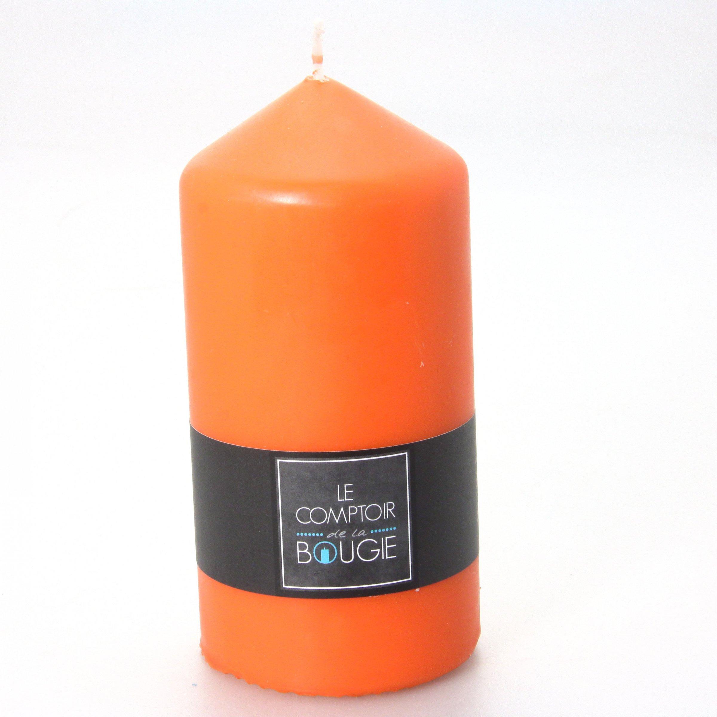 grande bougie cylindrique orange d coration anniversaire et f tes th me sur vegaoo party. Black Bedroom Furniture Sets. Home Design Ideas