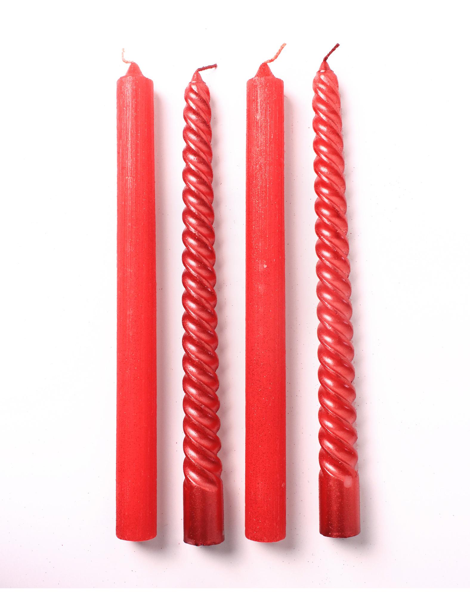 4 bougies rouges pour chandelier d coration anniversaire. Black Bedroom Furniture Sets. Home Design Ideas