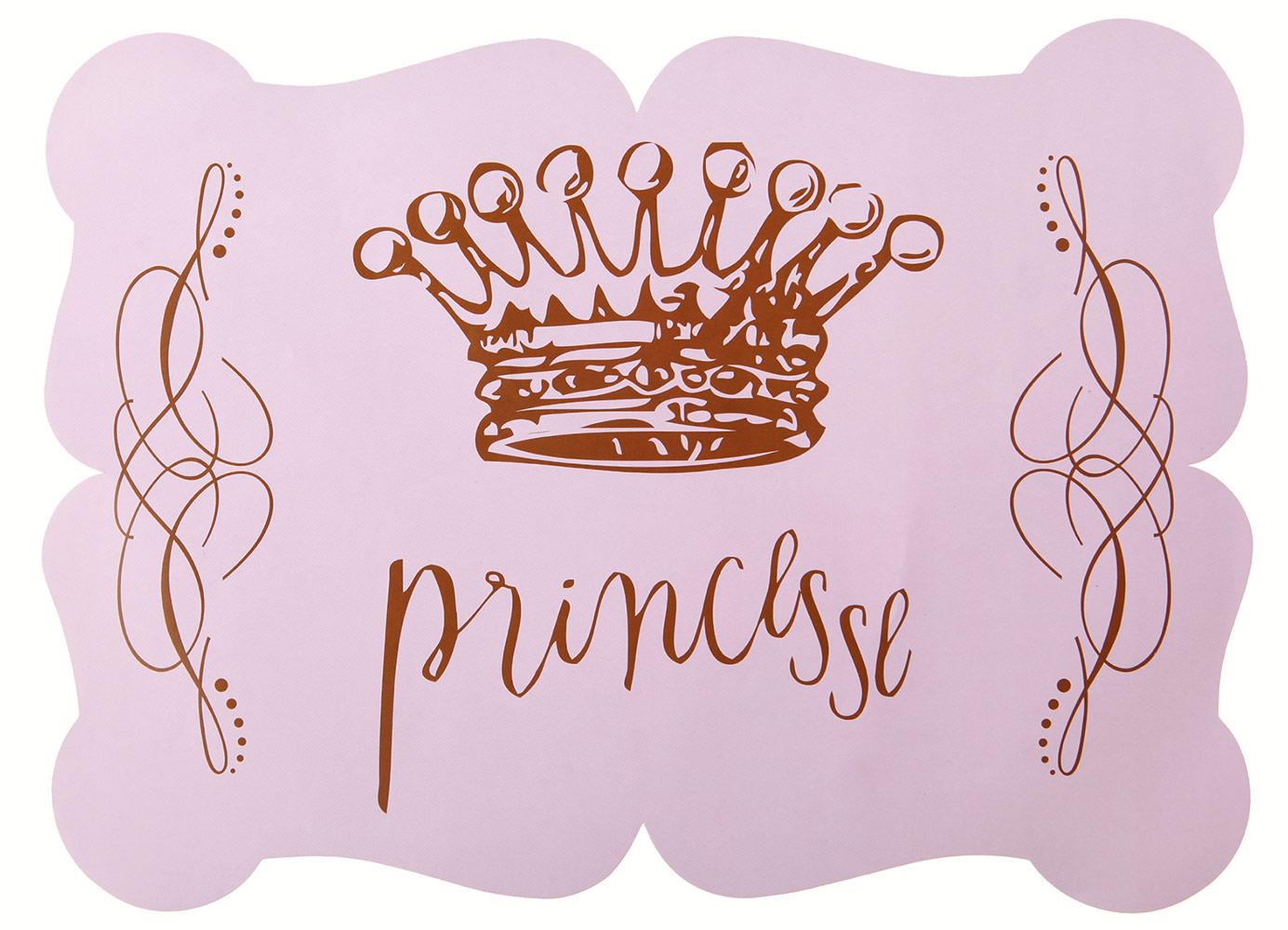 Sets de table princesse rose d coration anniversaire et for Set de table rose