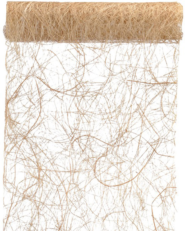 Chemin de table abaca beige 5 m d coration anniversaire - Chemin de table beige ...