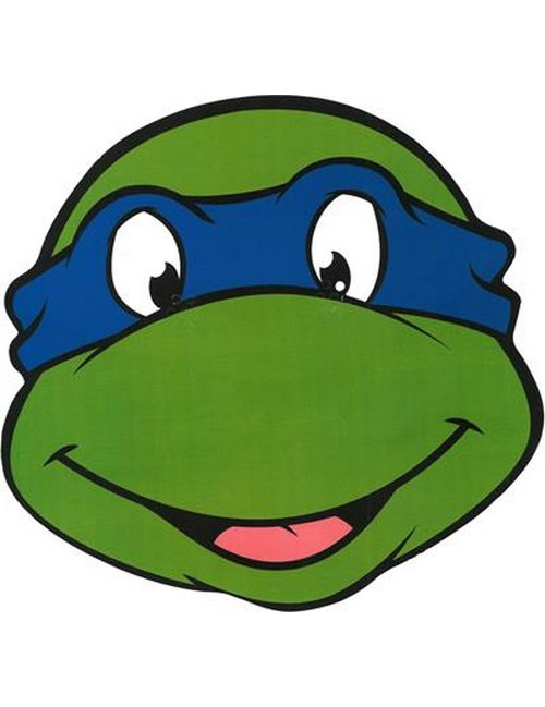 Masque en carton l onardo tortues ninja d coration anniversaire et f tes th me sur vegaoo party - Tortue ninja orange ...