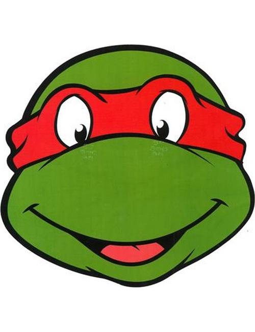 Masque en carton rapha l tortue ninja - Tortue ninja raphael ...