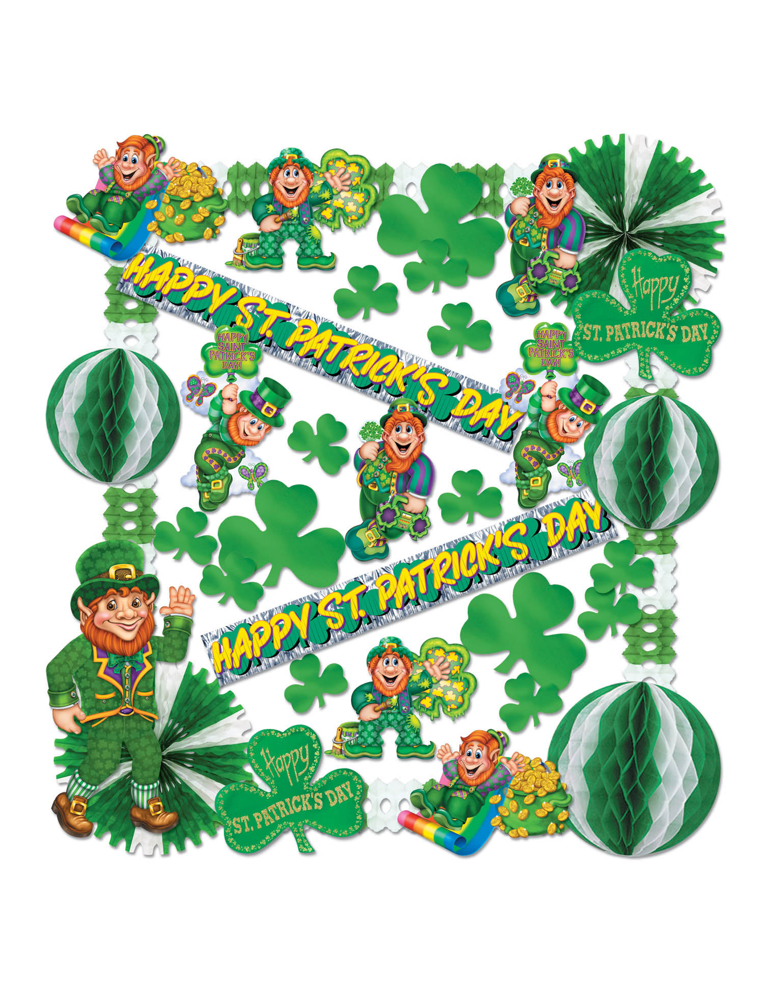 Kit d corations st patrick vegaoo party achat de f tes for Decoration saint patrick