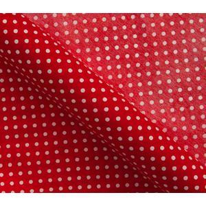 Chemin de table rouge pois blanc 5m d coration for Chemin de table a pois