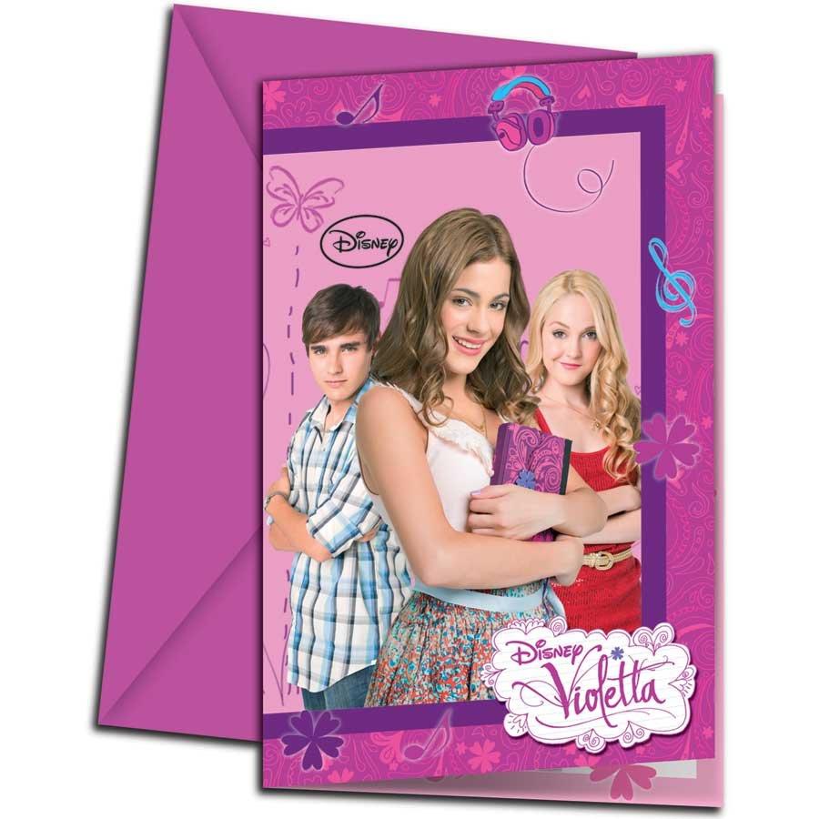 Vegaoo Party > Anniversaire fille > 6 Cartes d'invitations avec
