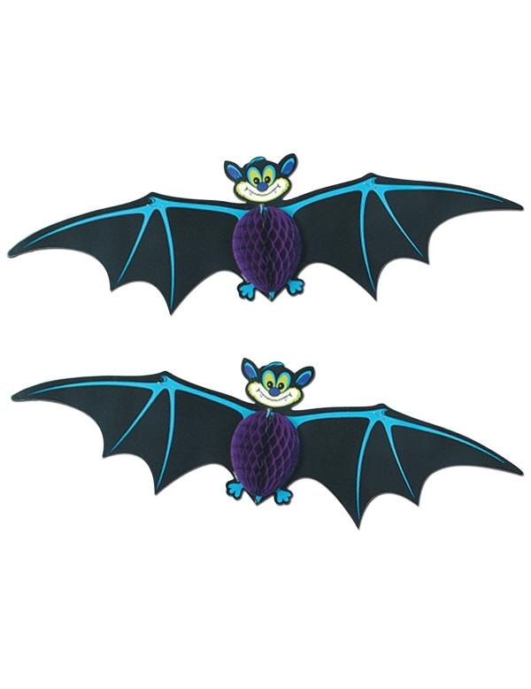 2 d corations suspendre chauve souris halloween - Deco halloween chauve souris ...
