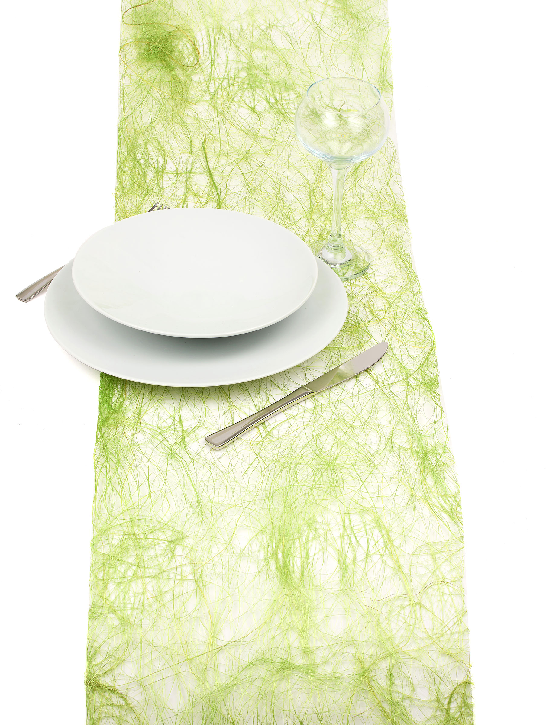 chemin de table abaca vert anis d coration anniversaire et f tes th me sur vegaoo party. Black Bedroom Furniture Sets. Home Design Ideas