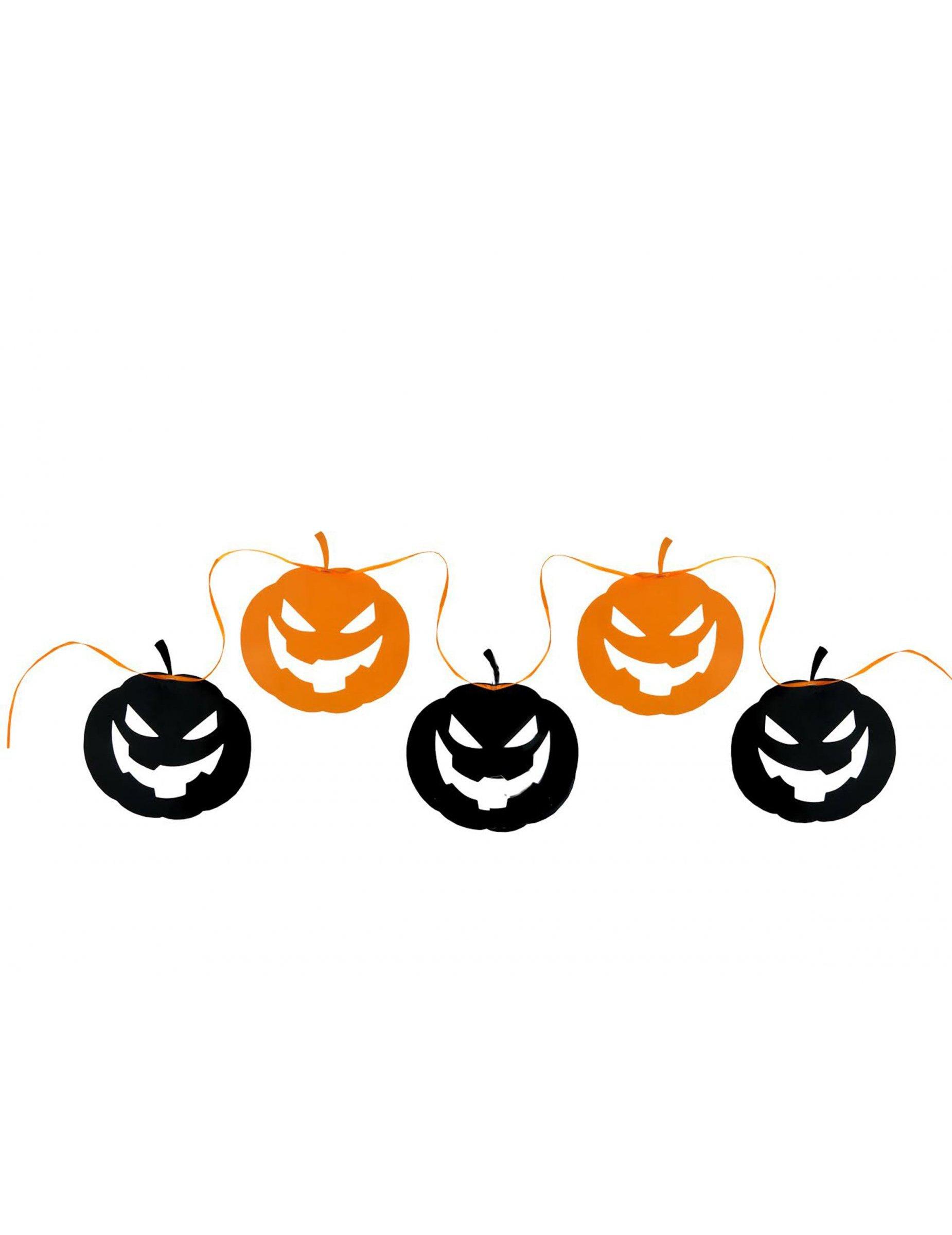 guirlande citrouille noir et orange halloween d coration anniversaire et f tes th me sur. Black Bedroom Furniture Sets. Home Design Ideas
