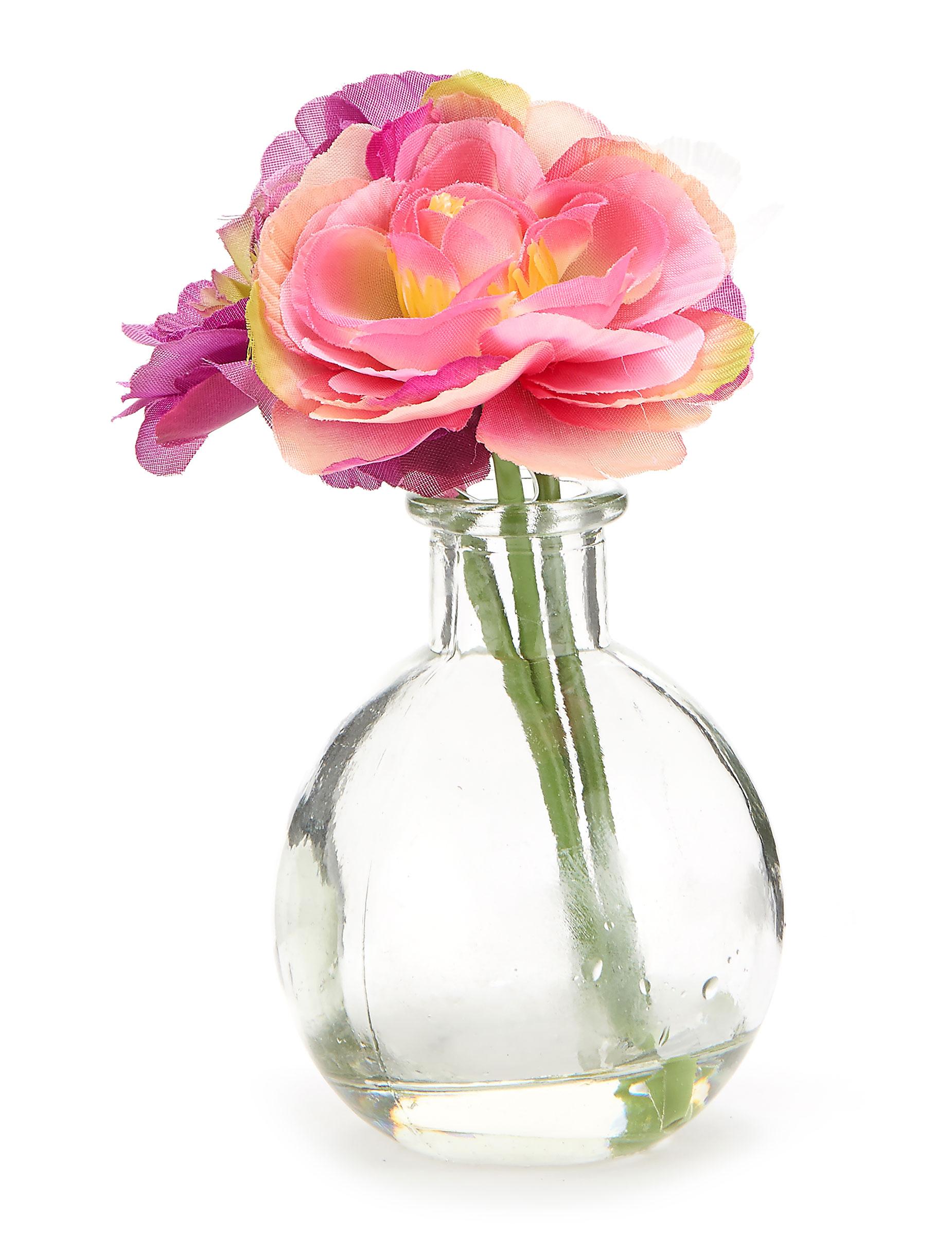 petit vase de fleurs artificielles d coration anniversaire et f tes th me sur vegaoo party. Black Bedroom Furniture Sets. Home Design Ideas