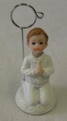 Figurine en résine marque place garçon Communion