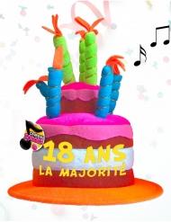 Chapeau musical anniversaire 18 ans
