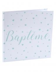Livre d'or Baptême blanc et menthe 24 cm