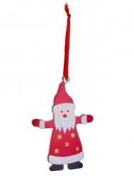 Suspension Père Noël en bois 12 cm