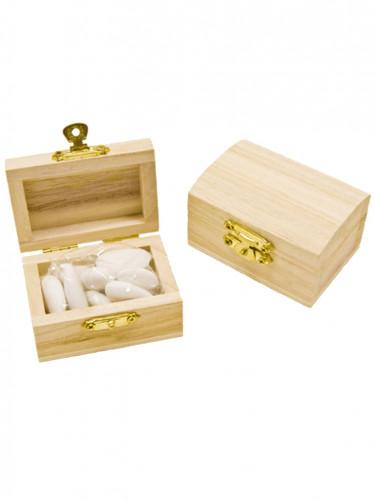 4 petits coffres en bois d coration anniversaire et f tes th me sur vegaoo party. Black Bedroom Furniture Sets. Home Design Ideas