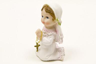 Figurine en résine fille Communion