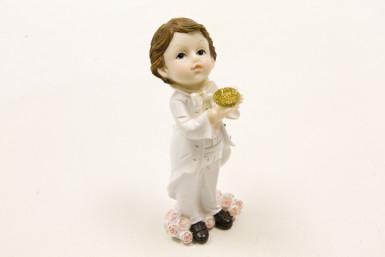 Figurine en résine garçon Communion