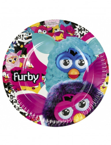 8 Assiettes en carton Furby 23 cm Taille Unique