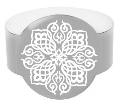 Ronds de serviettes Mariage Oriental argent , décoration ...