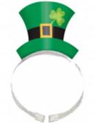 Serre-t�te chapeau vert fonc� tr�fle Saint-Patrick