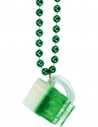 Collier chope � bi�re vert Saint-Patrick